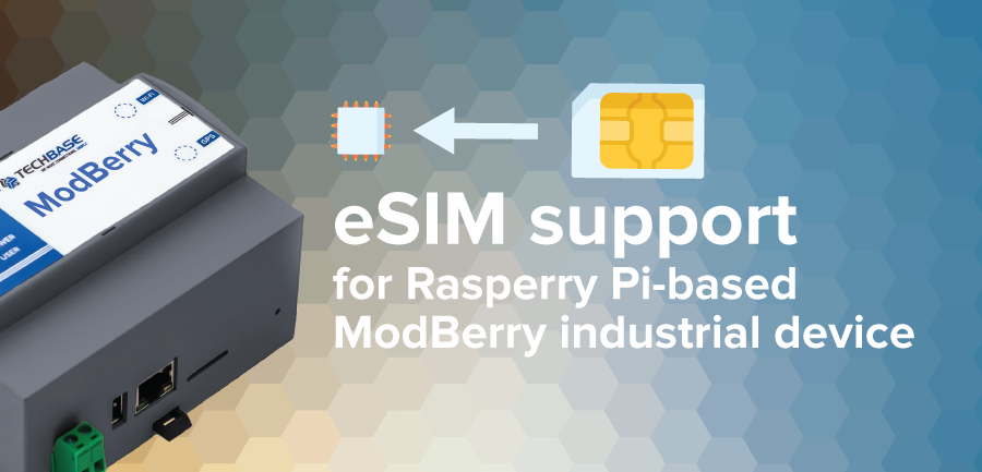 eSIM support for Rasperry Pi based ModBerry industrial device